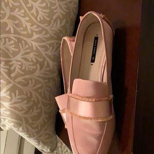 Salmon pink Zara flat size 38